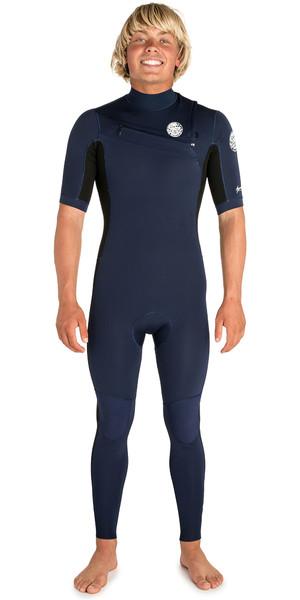 2019 Rip Curl Mens Aggrolite 2mm Short Sleeve Wetsuit Navy / Black WSM9HM