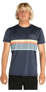 2019 Rip Curl Mens Rapture Surflite Short Sleeve Rash Vest Navy WLY8BM