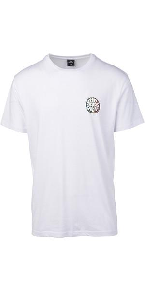 2019 Rip Curl Mens Rider T-Shirt Optical White CTEIK5