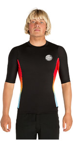 2019 Rip Curl Team Aggrolite Short Sleeve Rash Vest Black WLE9BM