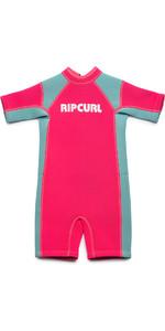 2019 Rip Curl Toddlers Dawn Patrol Spring Shorty Wetsuit Pink WSP7BK