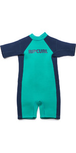 2019 Rip Curl Toddlers Dawn Patrol 1.5mm Spring Shorty Wetsuit Turquoise WSP7BK
