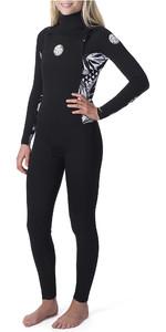 2019 Rip Curl Womens Dawn Patrol 3/2mm Chest Zip Wetsuit Black / Black WSM9CS