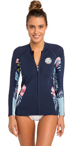 2019 Rip Curl Womens Dawn Patrol Long Sleeve Neoprene Jacket Navy WVE8BW