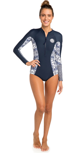 2019 Rip Curl Womens G-Bomb Long Sleeve Surf Suit Navy WLY6EW