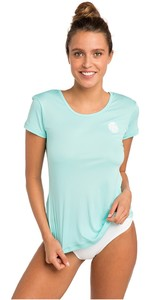 2020 Rip Curl Womens White Wash Loose Fit Rash Vest Blue WLU9QW