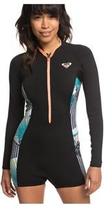 2019 Roxy Womens 1.5mm Pop Surf Long Sleeve Spring Shorty Black ERJW403019