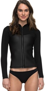 2019 Roxy Womens 2mm Satin Long Sleeve Jacket Black ERJW803009