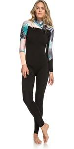 2019 Roxy 3/2mm Pop Surf Chest Zip Wetsuit Black ERJW103047