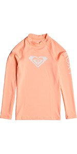 2019 Roxy Girls Wholehearted Long Sleeve Rash Vest Souffle ERGWR03081