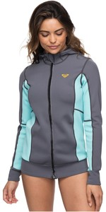 2019 Roxy Syncro Paddle Jacket Deep Grey / Glacier Blue ERJW803013