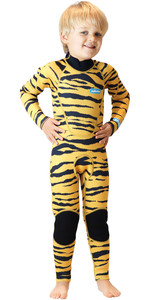 2019 Saltskin Junior 3/2mm Back Zip Wetsuit - Tiger