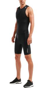 2020 2XU Mens Mens Active Half Zip Trisuit MT5540D - Black