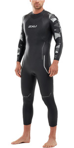 2020 2XU Mens P:2 Propel Triathlon Wetsuit MW4990C - Black / Textural Geo