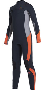 2020 Billabong Junior Boys Absolute 5/4mm Chest Zip Wetsuit U45B13 - Navy
