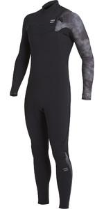 2020 Billabong Mens Furnace Comp 4/3mm Chest Zip Wetsuit U44M52 - Black Tie Dye