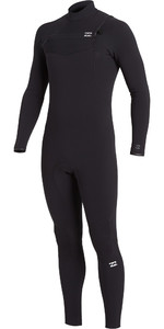 2020 Billabong Mens Furnace Comp 4/3mm Chest Zip Wetsuit U44M52 - Black