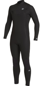 2020 Billabong Mens Furnace Comp 4/3mm Zipperless Wetsuit U44M54 - Black