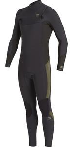 2020 Billabong Mens Revolution 4/3mm Chest Zip Wetsuit U44M56 - Antique Black