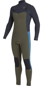 2020 Billabong Mens Revolution 3/2mm Chest Zip Wetsuit U43M55 - Dark Olive