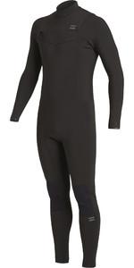 2021 Billabong Mens Revolution 3/2mm Chest Zip Wetsuit U43M56 - Black