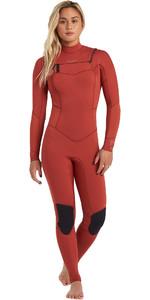2020 Billabong Womens Salty Dayz 4/3mm Chest Zip Wetsuit U44G30 - Sienna
