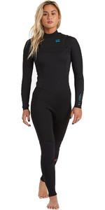 2020 Billabong Womens Synergy 3/2mm Chest Zip GBS Wetsuit U43G34 - Black