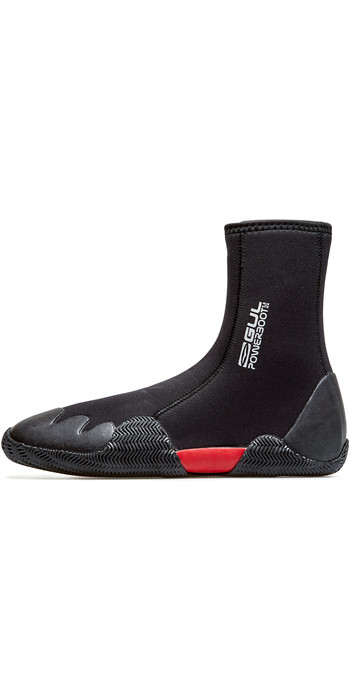 2020 GUL Power 5mm Round Toe Zipped Boots BO1306-B8 - Black
