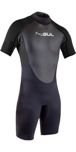 2020 GUL Mens Response 3mm Back Zip Shorty Wetsuit RE3319-B7 - Black