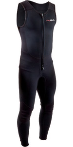 2020 GUL Mens Response 3mm Front Zip Long John Wetsuit RE4313-B7 - Black