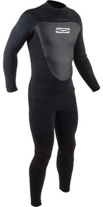 2020 GUL Mens 4/3mm Response Back Zip Wetsuit RE1246-B7 - Black
