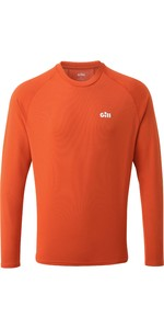 2021 Gill Mens Millbrook Long Sleeve Crew Top 1108 - Orange