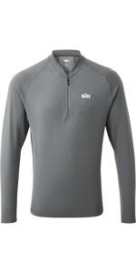 2021 Gill Mens Millbrook Zip T-Shirt 1107 - Steel Grey