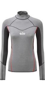 2020 Gill Womens Eco Pro Rash Vest 5025W - Grey Melange