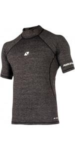 2020 Magic Marine Mens Cube Short Sleeve Rash Vest 180042 - Black