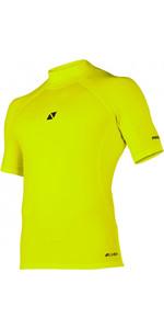2020 Magic Marine Mens Cube Short Sleeve Rash Vest 180042 - Flash Yellow