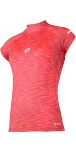 2021 Magic Marine Womens Cube Short Sleeve Rash Vest 180044 - Pink Melee