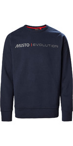 2020 Musto Mens Evolution Logo Crew Jumper 82042 - True Navy