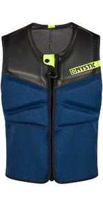 2021 Mystic Block Kite Impact Vest Front Zip KBL - Navy / Lime