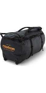 2020 Northcore Wheeled Duffel Bag 110L NOCO123DB - Black / Orange