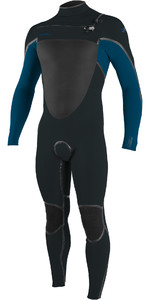 2020 O'Neill Mens Psycho Tech 5/4+mm Chest Zip Wetsuit 5365 - Gunmetal / Ultra Blue