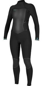 2021 O'Neill Womens Psycho Tech 5/4mm Back Zip Wetsuit 5431 - Black