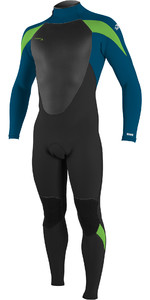 2021 O'Neill Youth Epic 4/3mm Back Zip GBS Wetsuit 4216BG - Black / Ultra Blu