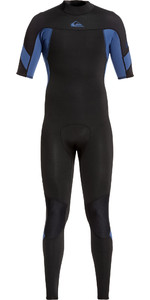 2020 Quiksilver Mens 2mm Syncro Back Zip Short Sleeve Wetsuit EQYW303011 - Black / Blue
