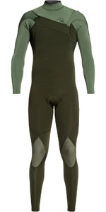 2020 Quiksilver Mens Highline Limited 3/2mm Chest Zip Wetsuit EQYW103075 - Ivy / Olive