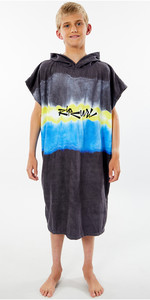 2020 Rip Curl Mix Up Junior Change Robe Poncho KTWAH9 - Black / Yellow