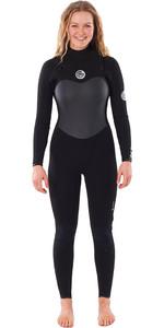 2021 Rip Curl Womens Flashbomb 3/2mm Chest Zip Wetsuit WSTYEG - Black