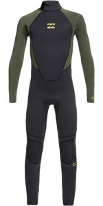 2021 Billabong Junior Intruder 3/2mm Back Zip GBS Wetsuit 043B18 - Antique Black