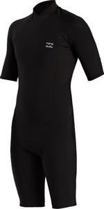 2021 Billabong Mens Absolute 2mm Back Zip Shorty Wetsuit W42M72 - Black