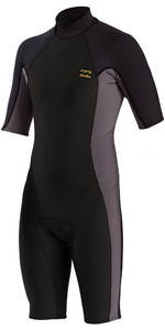 2021 Billabong Mens Absolute 2mm Back Zip Shorty Wetsuit W42M72 - Charcoal